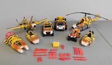 Vintage G.I. Joe ARAH Tiger Force Lot of 8 Vehicles with Parts and Accessories