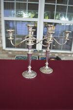 Large Sterling Silver Convertible Candelabra - 3 lites each - No monograms
