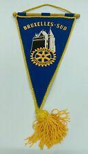 Vtg. BRUSSELS SOUTH European Rotary International Club banner flag RARE!