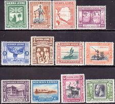 1933 SIERRA LEONE SG #168-79 set to 10sh MH CV £550 Wilberforce