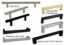 Modern Solid T Bar Pull Handle Kitchen/Bathroom Cabinet Cupboard Door Hardware