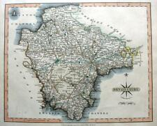 DEVONSHIRE DEVON PLYMOUTH   BY JOHN CARY GENUINE ANTIQUE ENGRAVED  MAP  c1809