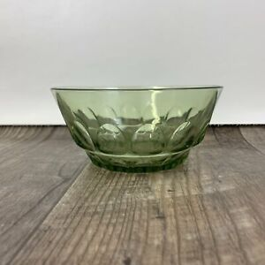 Green Thumbprint Bowl, Small Green Glass Bowl