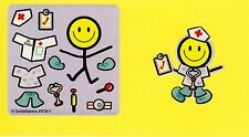 10 Make Your Own Medical Smiley Face Stickers - Party Favors - Doctor, Nurse