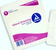 "Dynarex 3494 Sterile Island Dressing, 6""x6"", 25/Box *CLEARANCE*"