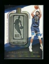 KARL-ANTHONY TOWNS 2020-21 Panini Impeccable #48 SILVER NBA LOGO HOLO GOLD 1/8