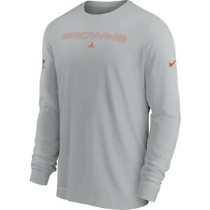 New Cleveland Browns Nike Sideline Team Issue Performance Long Sleeve T-Shirt