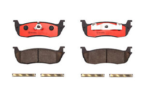 For Ford Expedition Lincoln Town Car Rear Brake Pad Set Slotted Ceramic Brembo