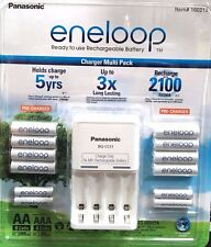 Eneloop Rechargeable Batteries NiMH 8 AA 4 AAA + Battery Charger Recharge New
