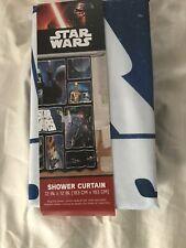 "Star Wars Classic Saga 72"" x 72"" Fabric Shower Curtain With Darth Vader, Luke."