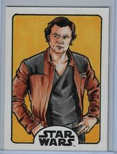 SOLO A Star Wars Story Sketch Card Han Solo by  Chris Willdig 1/1 SKC