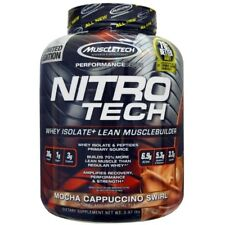 MuscleTech NitroTech 4lbs  1.8kg Whey Isolate + Lean Musclebuilder  Mocha