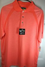 NWT $55 PGA Tour Pro Series Coral Short Sleeve Casual Golf Shirt Size Medium