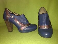 Blue & Purple DKODE Heels with Removable Snap Top 8