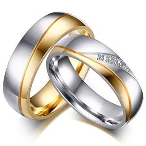 Partnerringe Freundschaftsringe Verlobungsringe Eheringe - Edelstahl Silber Gold