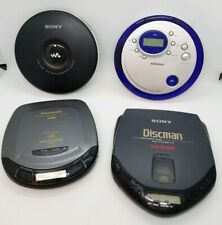 Lot of 4 Vintage Portable Cd Players Sony Panasonic Audiophase One Nonfunctional