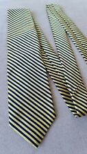 3/25 Limited edition Brooks Brothers luxury silk yellow gold navy stripe Tie