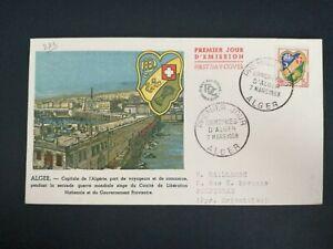 FRANCE PREMIER JOUR FDC YVERT 1195 ARMOIRIES D'ALGER 15F ALGER 1959