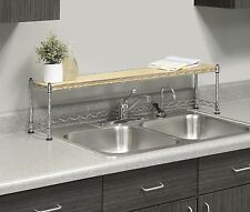 Over Sink Shelf Stand Kitchen Rack Storage Soap Plants Stand Organizer Home New