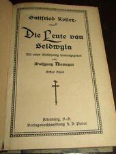 KLASSIKER Gottfried KELLER (1819-1890) Die Leute von Seldwyla 2 Bd in einem Buch