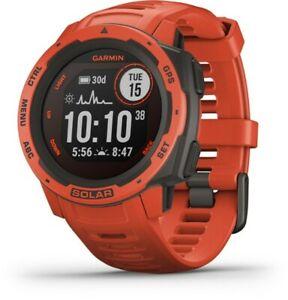 Garmin Instinct Solar Outdoor GPS Smartwatch - Flame Red