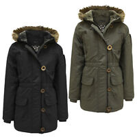 GIRLS KIDS JACKET PADDED PUFFER FUR HOODED WARM QUILTED WINTER SCHOOL PARKA COAT