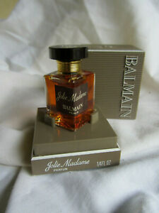 PARFUM VINTAGE 80 .BALMAIN JOLIE MADAME SA BOITE SA BOITE PAS UTILISE .8 ML