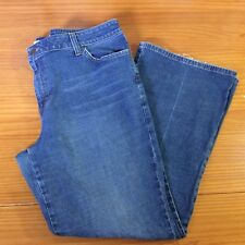 Mossimo Blue Jeans Womens Plus Sz 20 W Boot Cut Medium Wash Embroidered Pockets