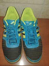Adidas Super Sala Indoor Soccer Shoes Black Blue Yellow Men's Us Size 12