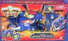 Power Rangers Jungle Fury Blue Jaguar Fury Cycle w 5' Ranger New Factory Sealed