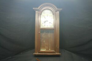 "27"" Waltham 31 Day Wall Clock W/ Key Pendulum Weights For Parts -B6"