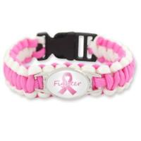 Breast Cancer Support Paracord Bracelet Fighter Survivor Strong Canadian Seller