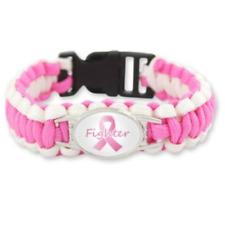 Breast Cancer Paracord Bracelet Fighter Support Survivor Strong Canadian Seller