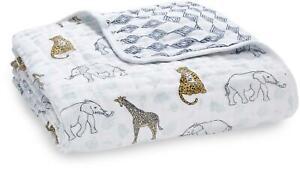 Aden + Anais DREAM BLANKET - JUNGLE Baby Cotton Muslin Bedding BNIP
