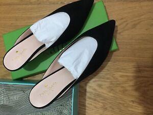 KATE SPADE New York Black Suede Sherrie Pointed Toe Court Heels (us9/uk6.5)