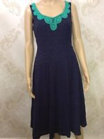 NEW M&S Per Una Ladies Party Evening Navy Blue Long, Sleeveless Dress Size 10.