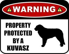 Warning Property Protected by a Kuvasz (Silhouette) Laminated Dog Sign