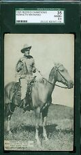 1925 Exhibit Rodeo Champions Card - Kenneth Maynard - World Champ Horse - SGC 35