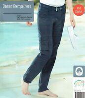 Damen Krempelhose Hose Gürtel dunkelblau zum krempeln sommerlich Öko-Tex