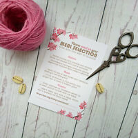 Personalised Wedding Menu Cards with Tick Box Option for Meal Choice