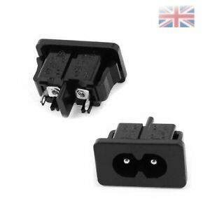 one Panel Mount IEC320 C8 Power Inlet Socket Adapter AC 250V 2.5A