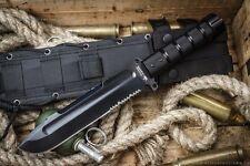 """PREMIUM Russian COMBAT SURVIVAL BIG KNIFE """"SURVIVALIST Z"""" Molle!!!!"""