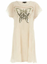 BNWT CUTIE HOUSE OF FRASER CREAM SEQUIN BUTTERFLY DRESS S/M 10 12 TOP SALE £50