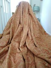 LAURA ASHLEY CURTAINS shabby VICTORIAN chic TAMARIND brocade BLANKET INTERLINED