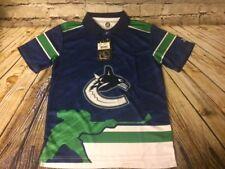 Vancouver Canucks NHL Boys Youth Hockey Team Fan Polo Shirt Large 14/16 [A436]