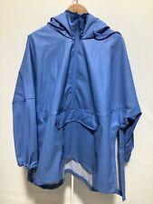 Mens Zara EUR Size L-XL Blue Pullover Raincoat Style Hooded Long Sleeved Coat