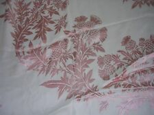 """Antique Thistle Motif Damask 54"""" Square tablecloth Souvenir Scotland"""