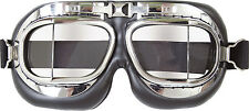 NEW ROYAL AIR FORCE RAF PILOTS FLYERS CHROME GOGGLES
