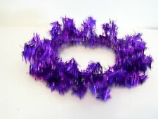 3 INCH PURPLE HOLOGRAPHIC TINSEL CANDLE RING HALLOWEEN CHRISTMAS DECORATION