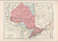 Mapa de 1923 ~ ~ Canadá Provincia de Ontario Lago Superior Michigan